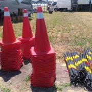 台南浪人音樂祭 動線規劃用 路錐 三角錐 連桿 出租運送