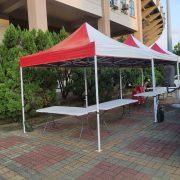 尊任咖啡 南投縣立體育場 促銷活動 3米帳 摺疊桌 塑膠椅 出租運送 (8)
