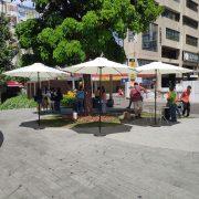 綠川東協廣場 端午節市集活動 白色休閒陽傘 出租運送 (4)