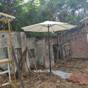 雲林科大 舊社區重建活動 桌椅帳篷 行動音響 白色陽傘 出租運送 (7)