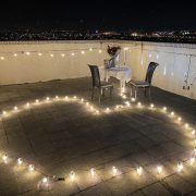 頂樓 燭光晚餐求婚 串燈愛心圖型排列 活動場地佈置 出租 (6)