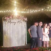 6月6日 千樺花園餐廳 婚禮晚宴 串燈 投影設備 音響 出租搭設 (4)