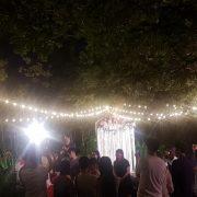 6月6日 千樺花園餐廳 草地婚禮晚宴 串燈施工 出租搭設 (6)