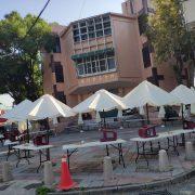 埔里蔬食節 市集攤位區 白色休閒傘 出租運送 (25)