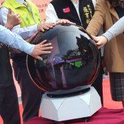 彰化古城新生 點燈記者會 3D啟動球 出租運送 (10)