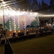 台灣荒原俱樂部20周年草地音樂會 主舞台表演區佈置用 串燈 出租搭設