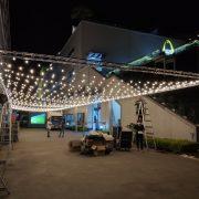 AGIT艾鉅衝浪板公司 中秋活動 1樓活動舞台區 Truss 串燈 出租佈置施工 (14)