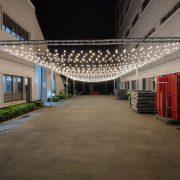 AGIT艾鉅衝浪板公司 中秋活動 1樓活動舞台區 Truss 串燈 出租佈置施工 (20)