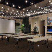 AGIT艾鉅衝浪板公司 中秋活動 3樓泳池餐區 串燈出租佈置施工 (46)