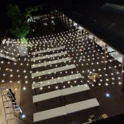 AGIT艾鉅衝浪板公司 中秋活動 3樓泳池餐區 串燈出租佈置施工 (51)
