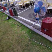 豐邑菁科城中秋烤肉活動 點心椅 塑膠矮椅 電風扇 出租運送