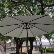 逢甲大學USR成果豐收季 折疊椅 摺疊桌 休閒陽傘 標準舞台 出租搭設 (24)